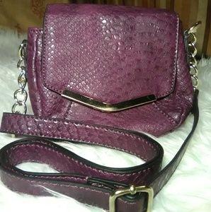 3/30🎆Cosmo Purple Crossbody🐍Faux Snake Skin